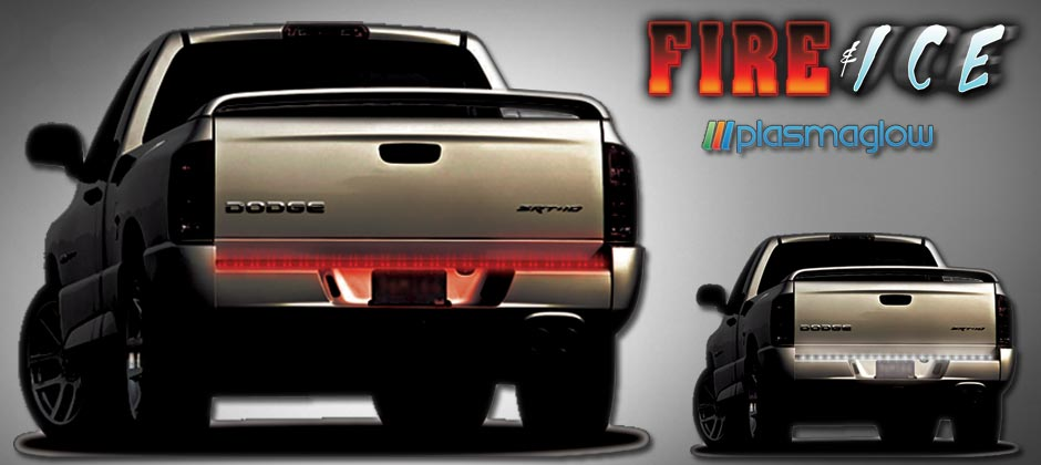 Fire ice led tailgate bar plasmaglow audiocablefo
